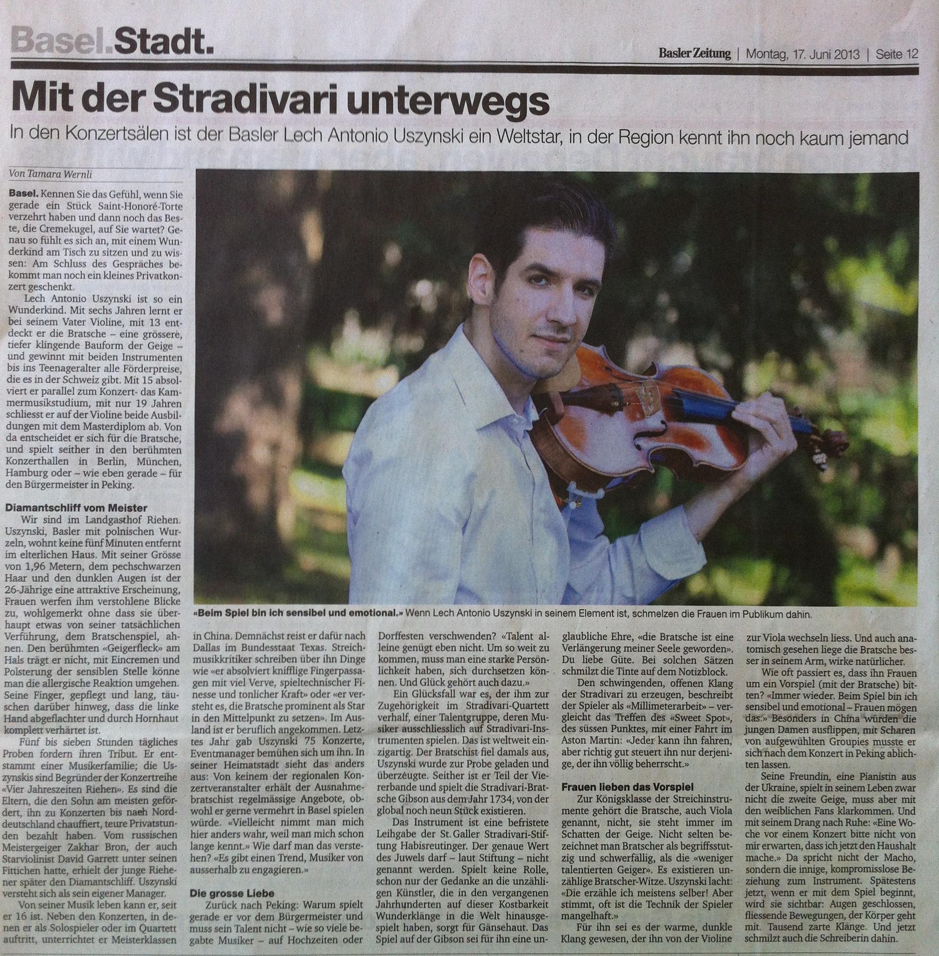 Basler Zeitung - 17.06.2013