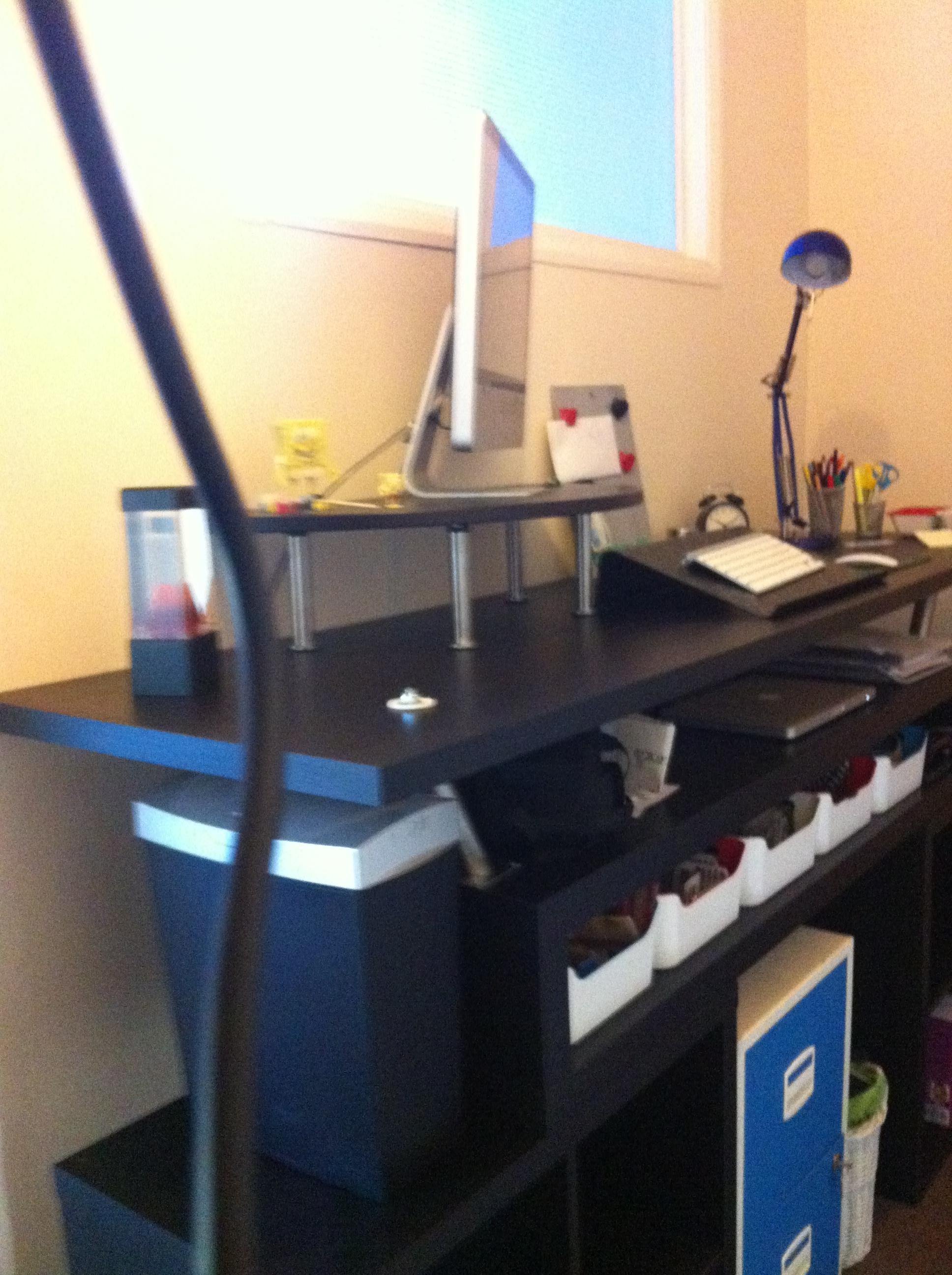 standing desk, ikea hack