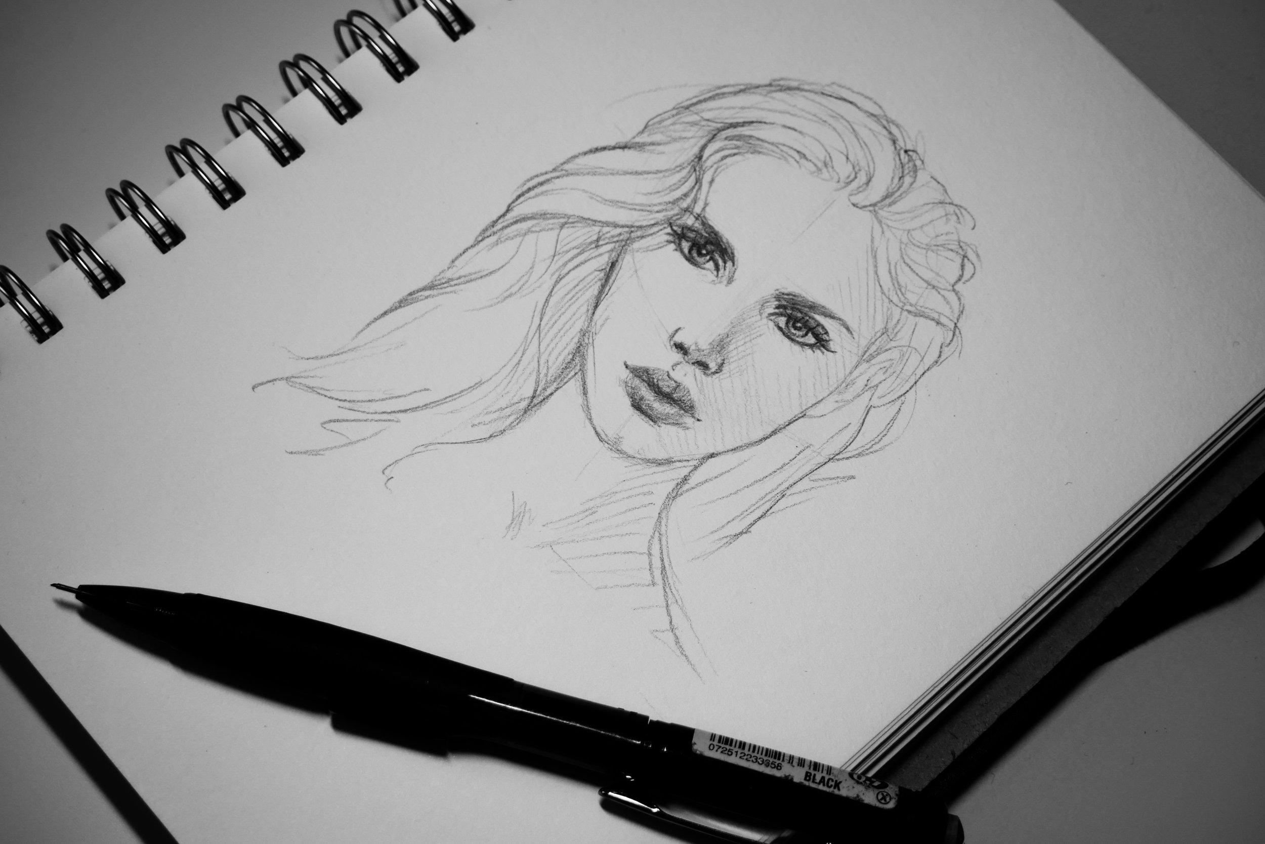 PortraitSketch_July2017_by_HannahMarshall