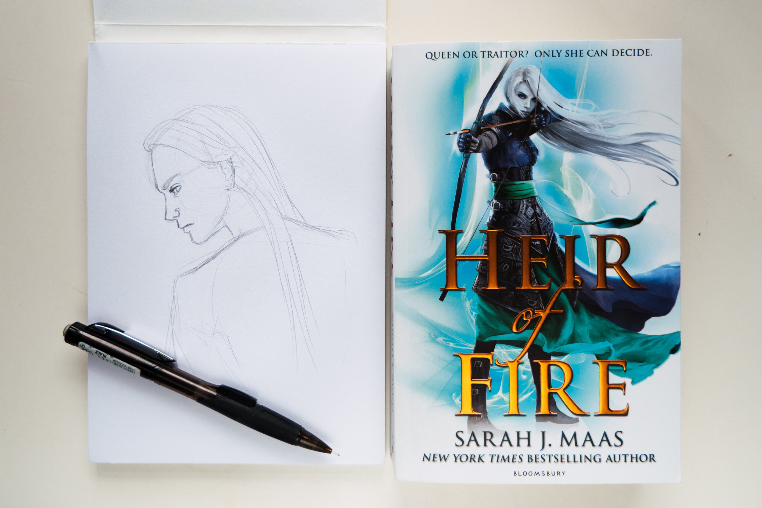Celaena Sardothien from the Throne of Glass series by Sarah J Maas.