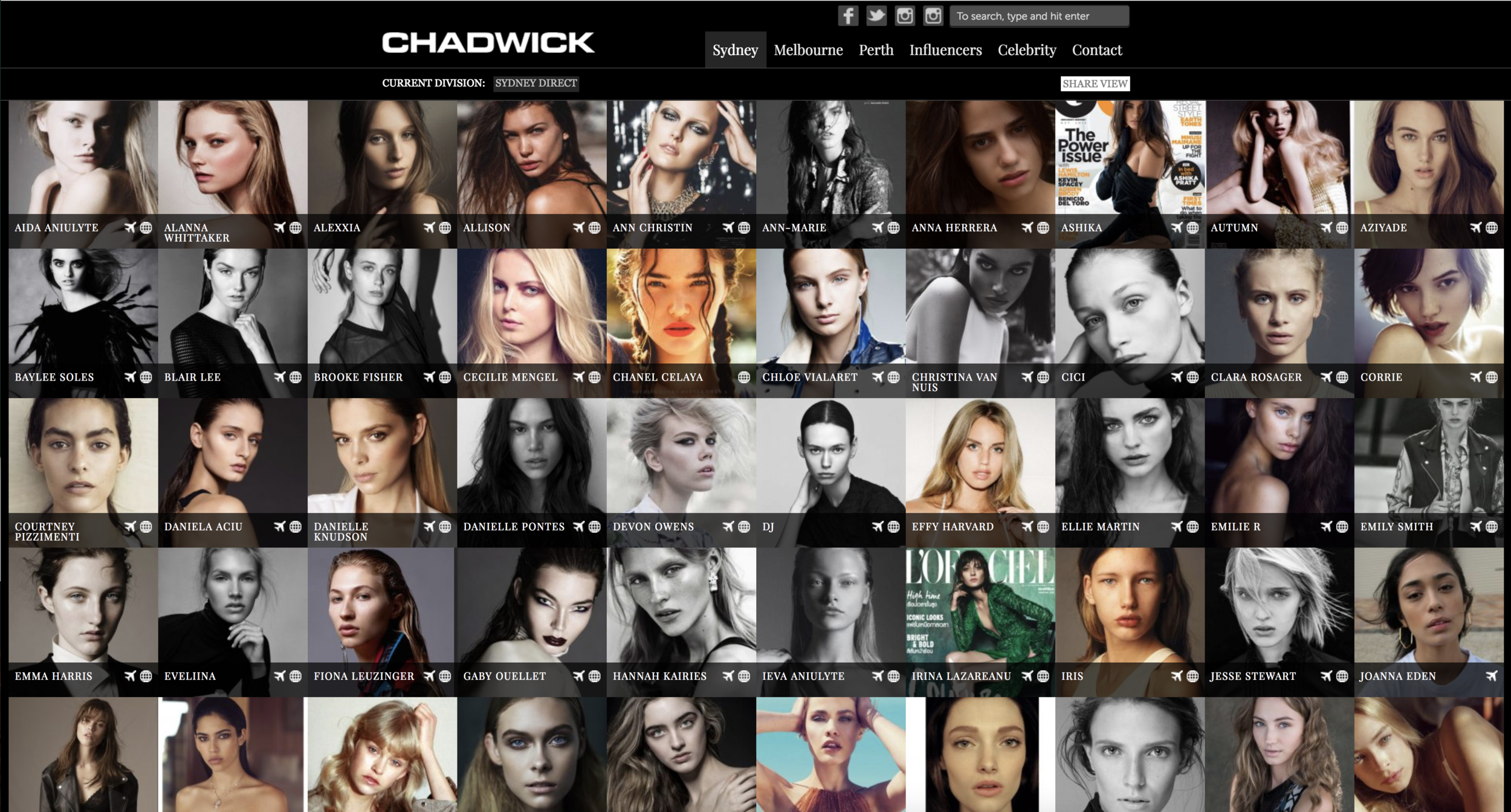 Using http://chadwickmodels.com to find inspiration for faces/facial features.