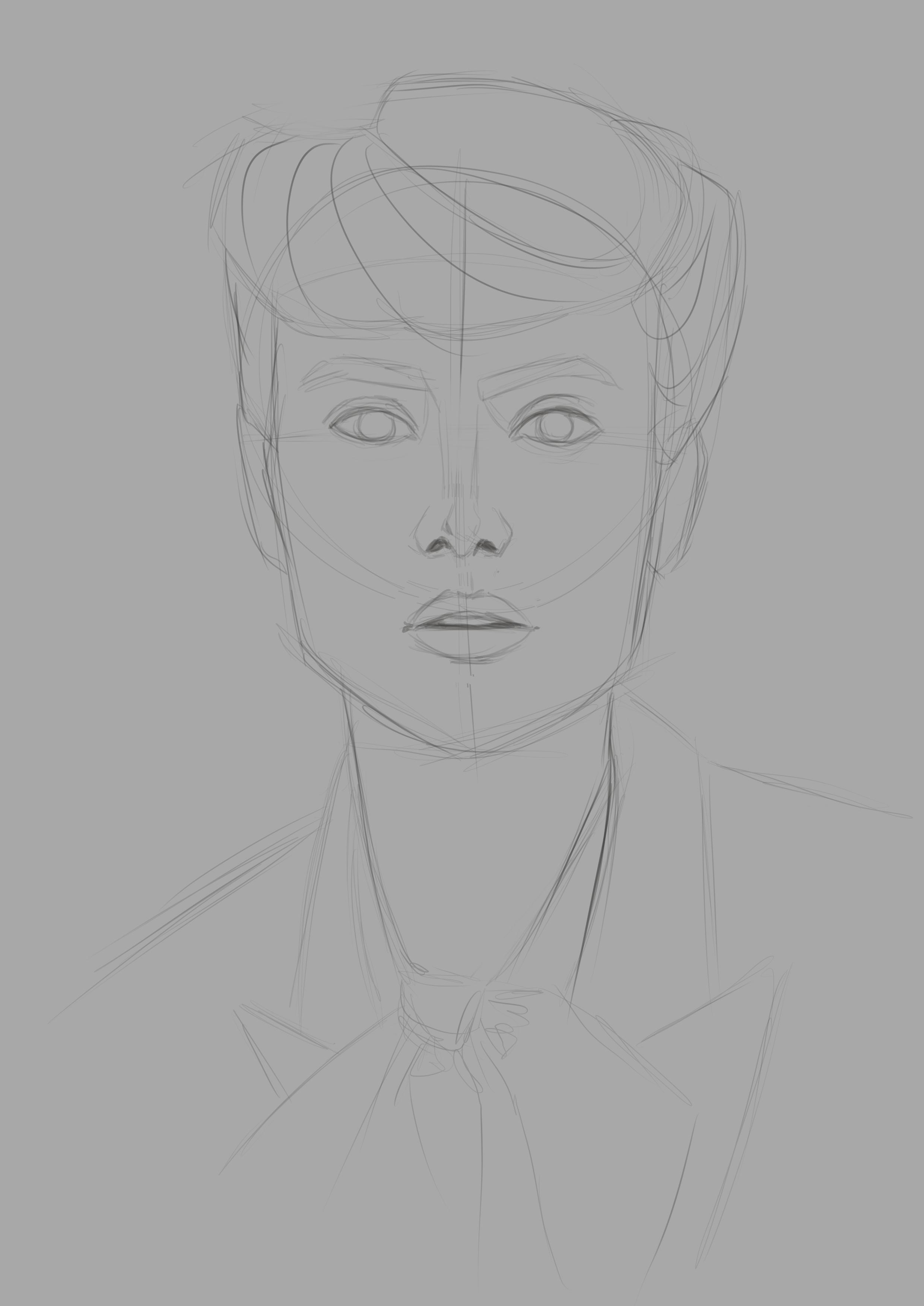 Sketch done in Clip Studio Paint Ex
