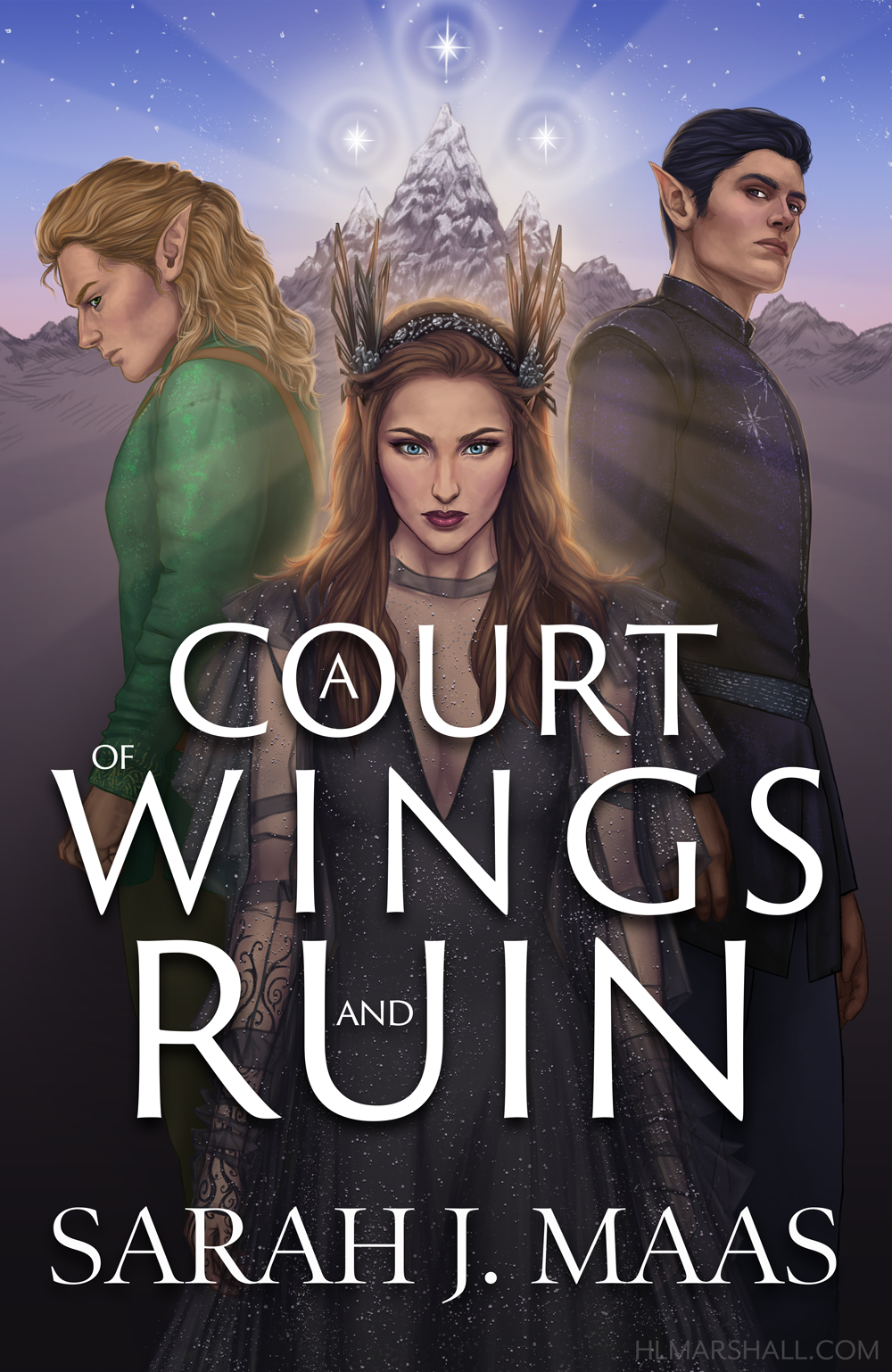 A Court of Wings and Ruin Book Cover Redesign