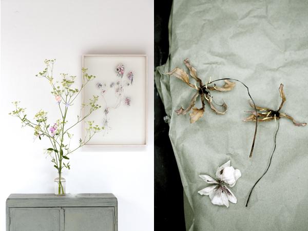 Aan de muur Flowerconstruction van  Anne ten Donkelaar . Met dank aan  Dennis Flowers  in Haarlem.