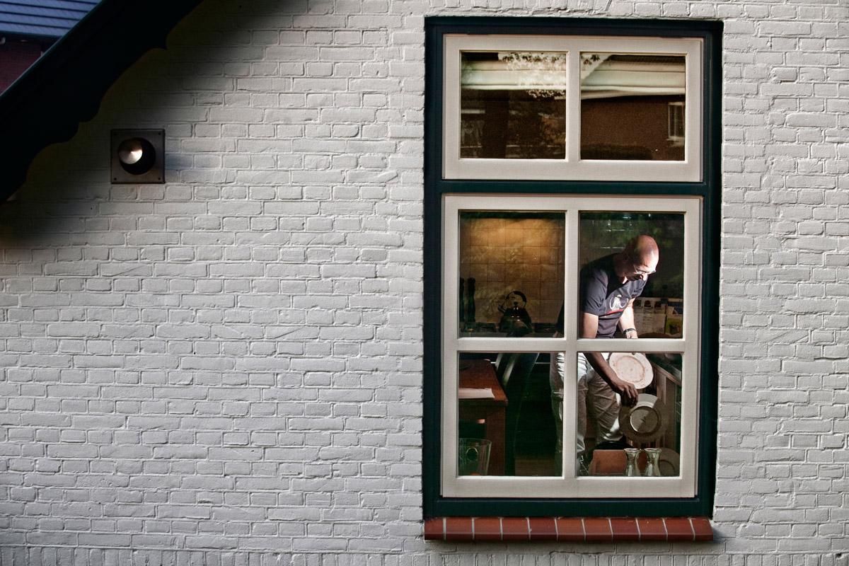 Victor Meier (44), in his farmhouse in the new neighborhood of Vathorst