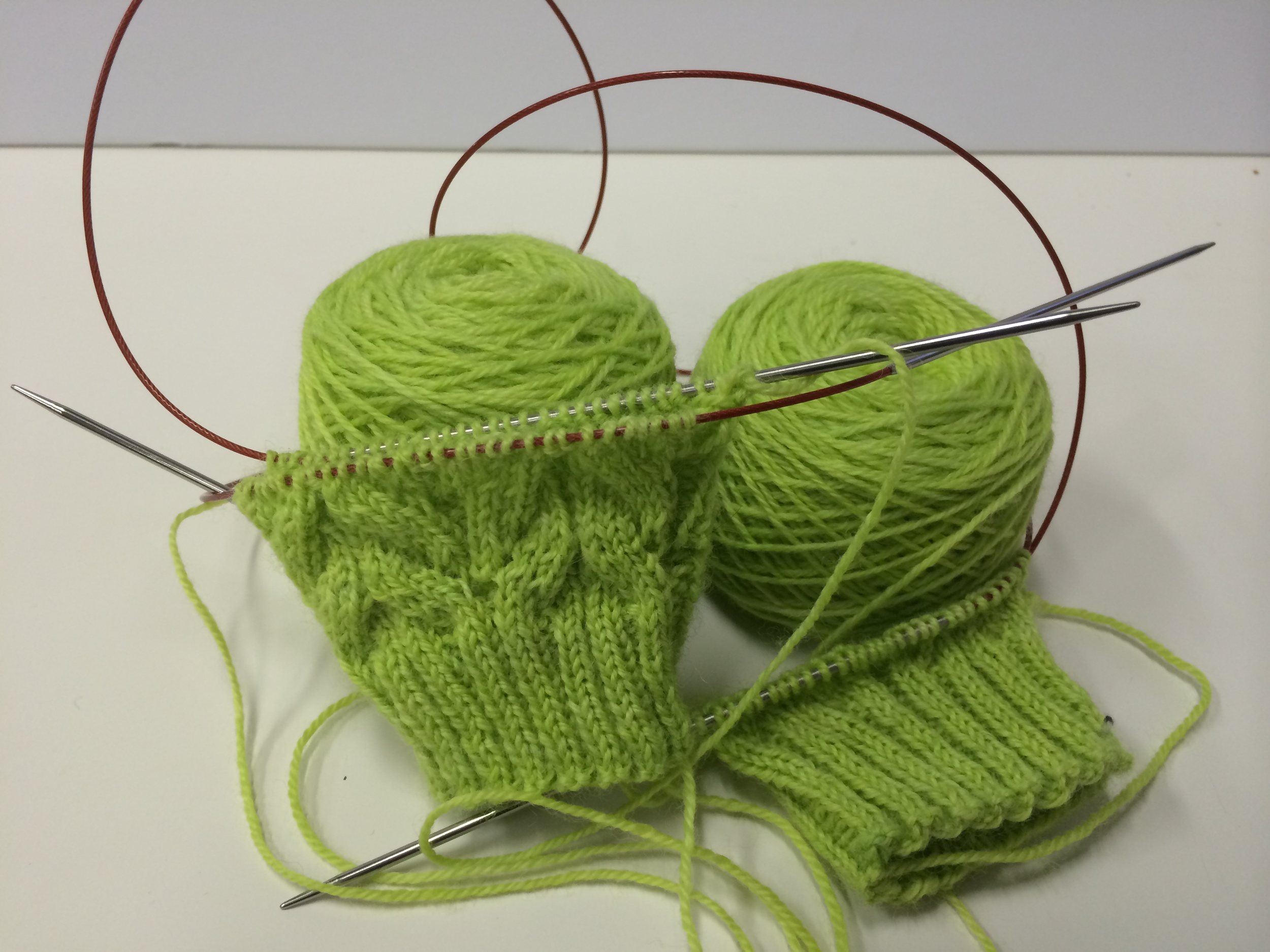 My current WIP. Cadence Sock by verybusymonkey in Spring Buds on Kilcoursie Fingering