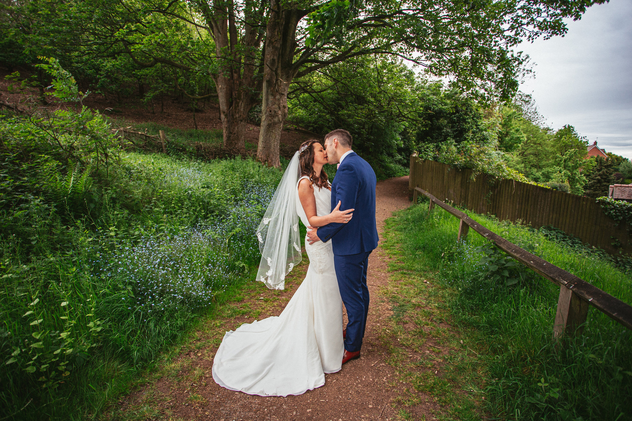 Daniel and Amy sharing a kiss at Clent