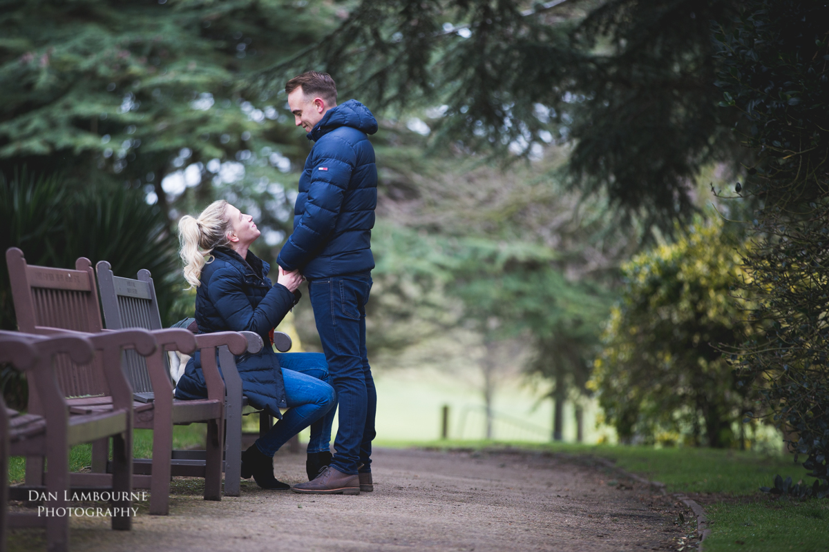 Emma & Jamie Pre Wedding Shoot at Woolaton Park in Nottingham with Dan Lambourne Photography