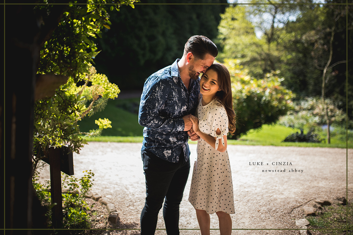 Wedding Photographer Near Me.Luke Cinzia Newstead Abbey Pre Wedding Shoot Dan Lambourne