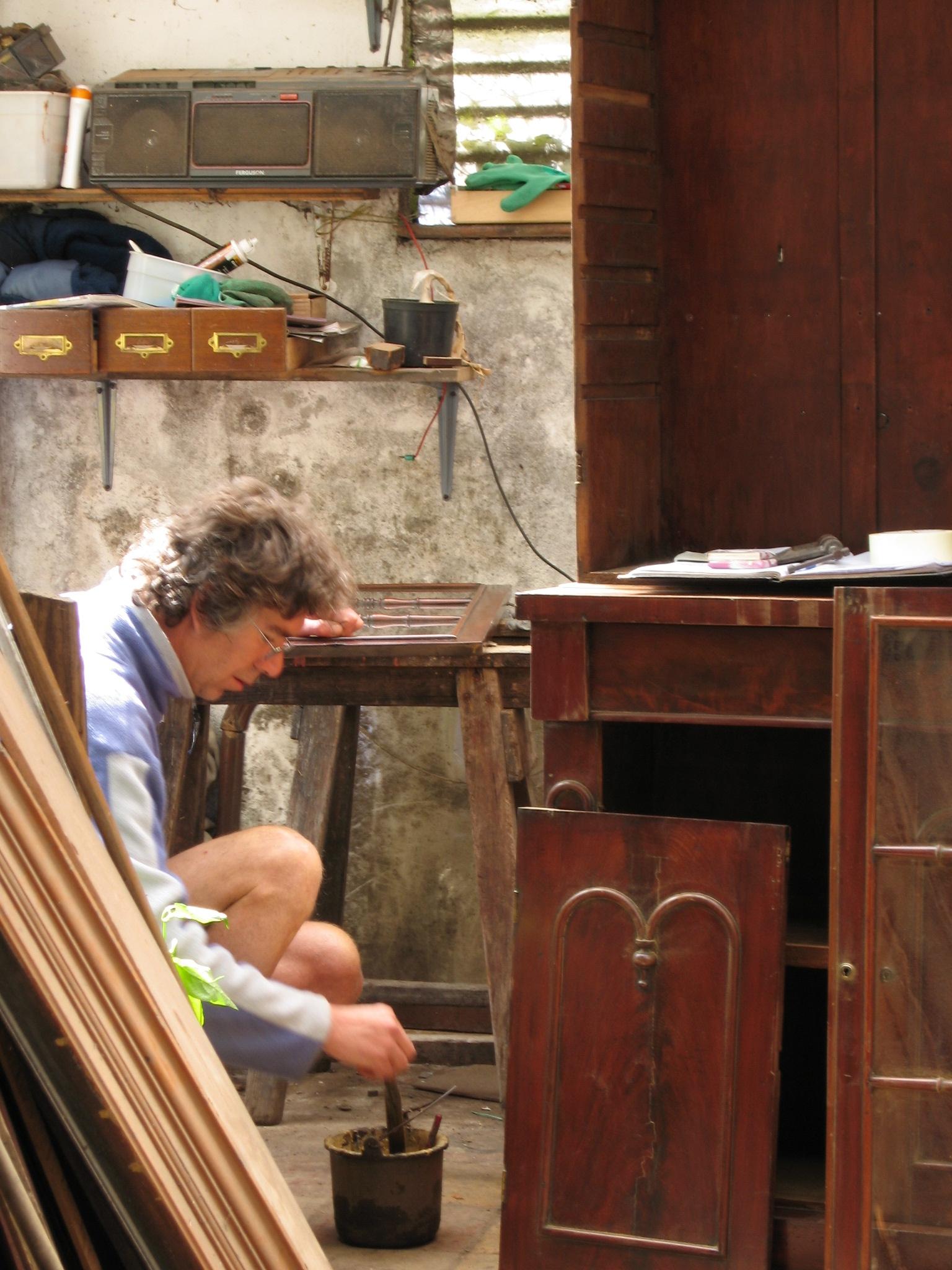 Graham restoring a dresser