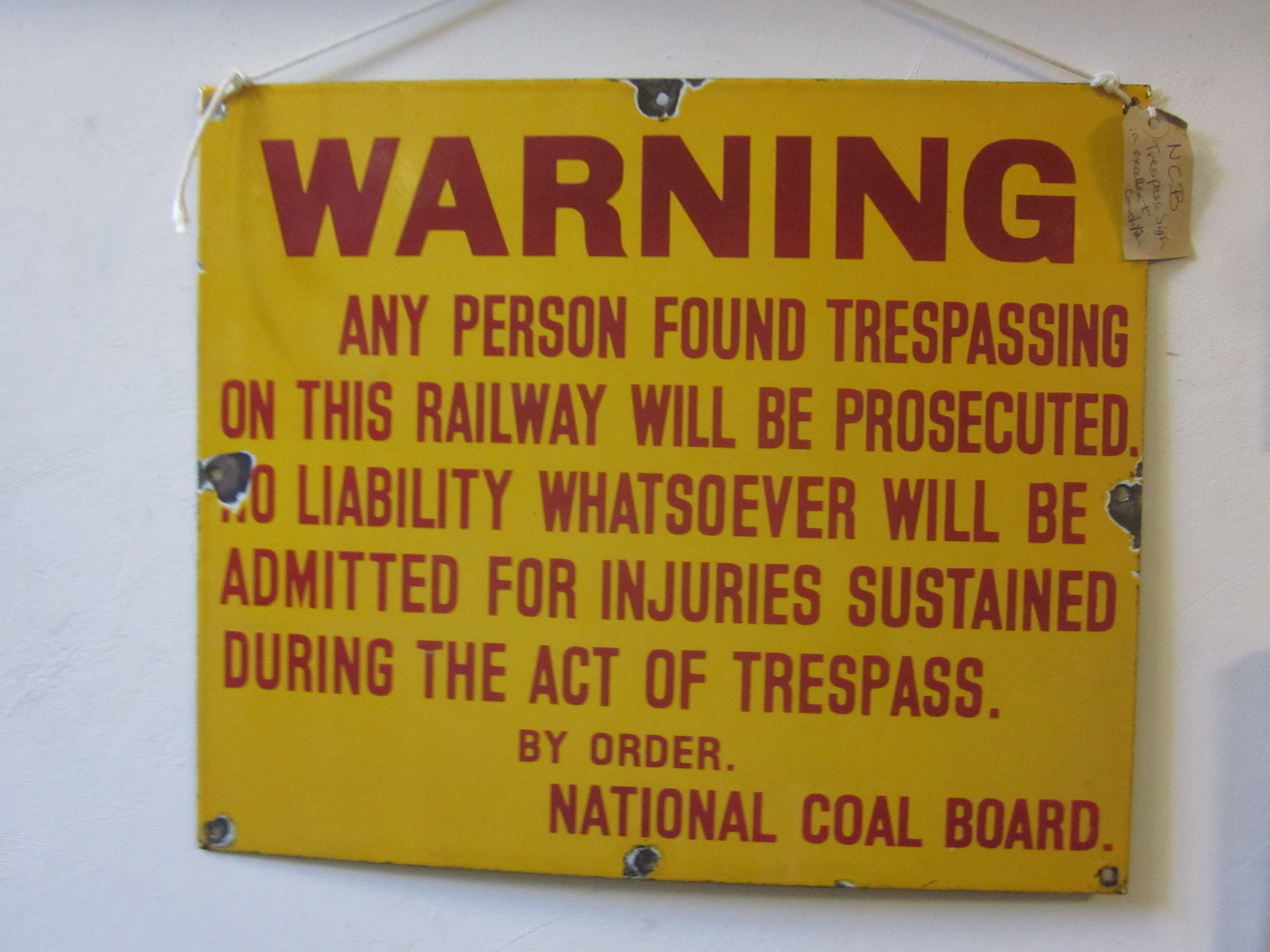 NCB Trespass Sign