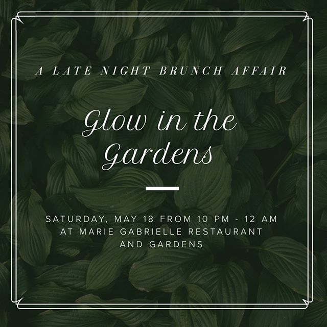 Join us as we light up the scene at Marie Gabrielle Restaurant and Gardens. From bottomless Moonlight Mimosas to brunch bites and specialty cocktails, there will plenty of delicious items to try at this after dark affair. Featuring live entertainment, you'll experience Marie Gabrielle like never before. Don't forget to don your best garden chic look to complete this evening to remember! 🌟  With ticket purchase, you'll: •Be the first to taste exciting new culinary creations by Marie Gabrielle •Enjoy bottomless Moonlight Mimosas all night long •Be entered to win substantial credit toward your next event at Marie Gabrielle. •Specialty summer sips will be available for purchase with proceeds benefiting Hope Fest: Live from Harwood, a charity concert supporting incredible local nonprofits. 💫 (Link in bio)
