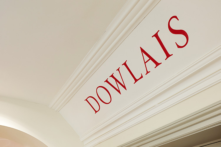 Hand painted room signage