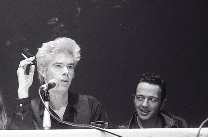 Jim Jarmusch & Joe Strummer, Mystery Train press conference NYFF 1989