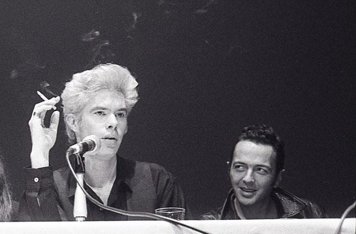 Jim Jarmusch & Joe Strummer, NY FIlm FestivaL 1989 - PHOTO: GODLIS