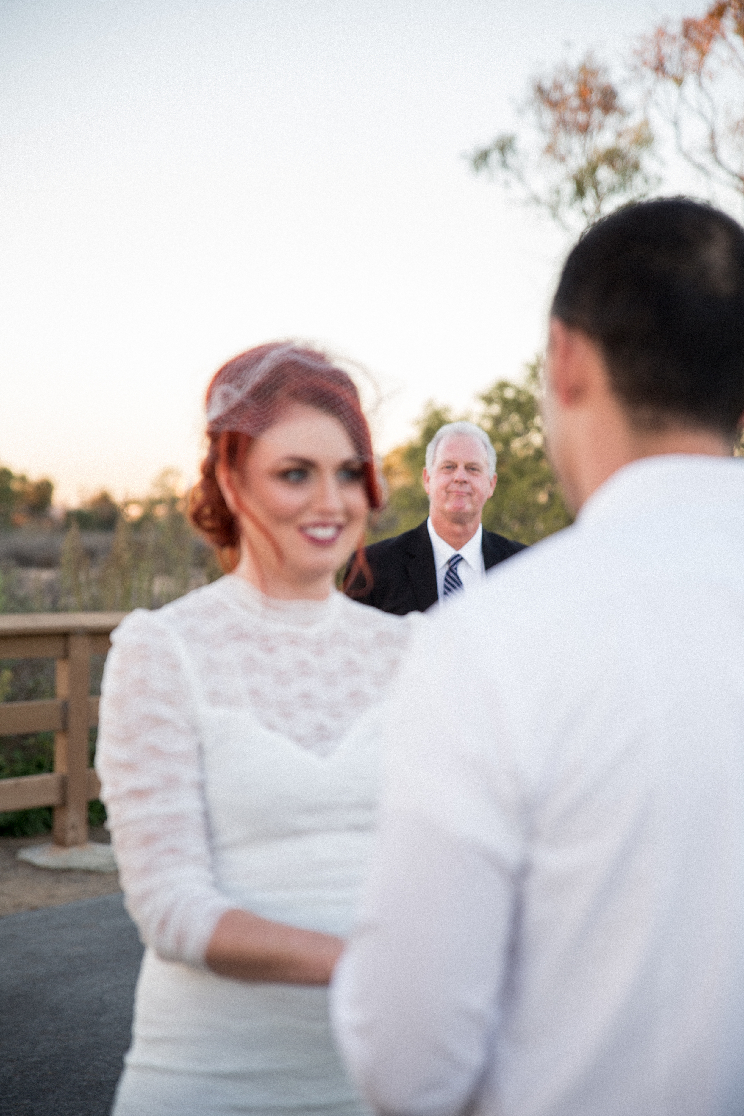 Father watching his daughter get married!