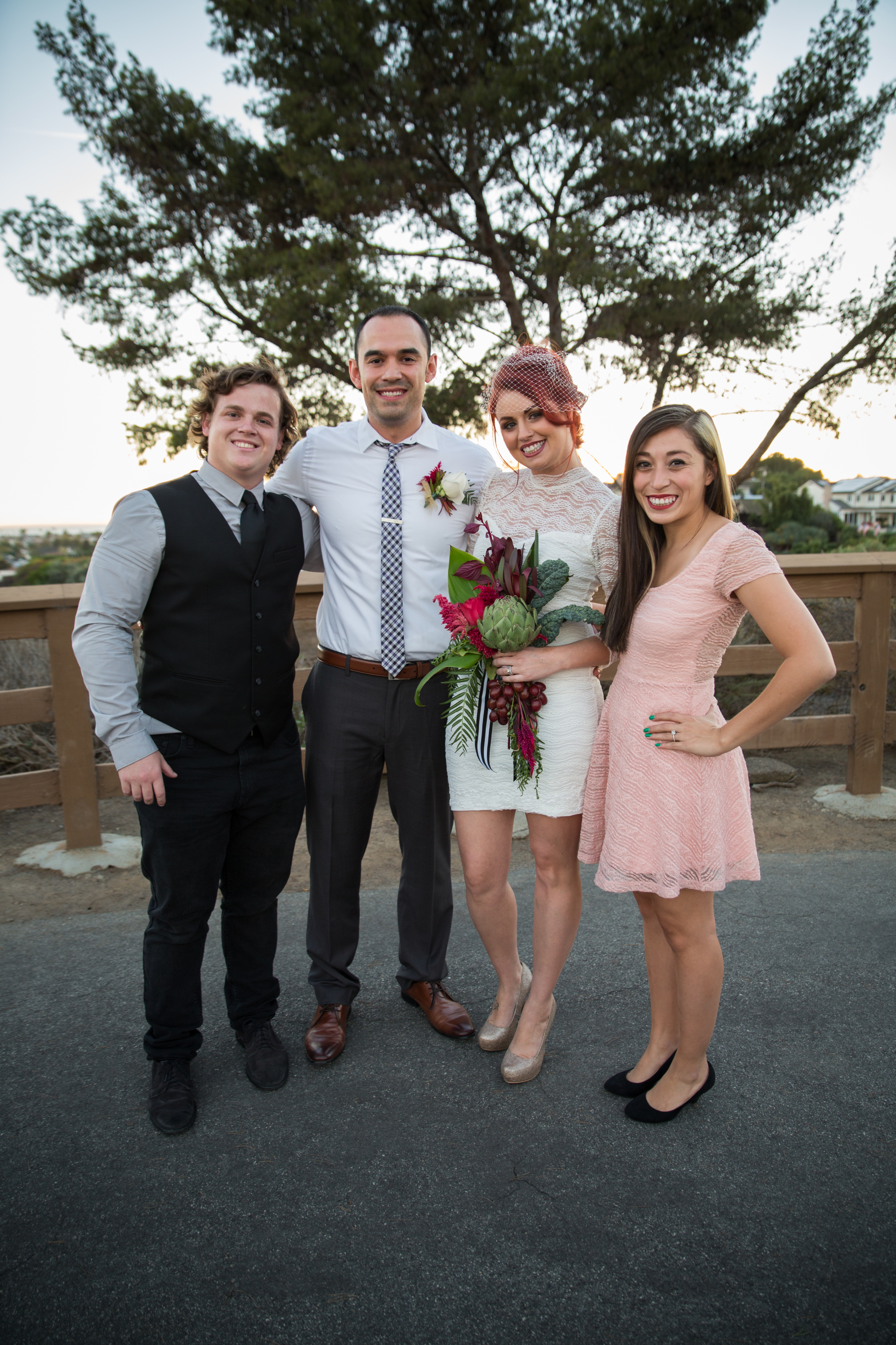My fiance and I with the happy couple!