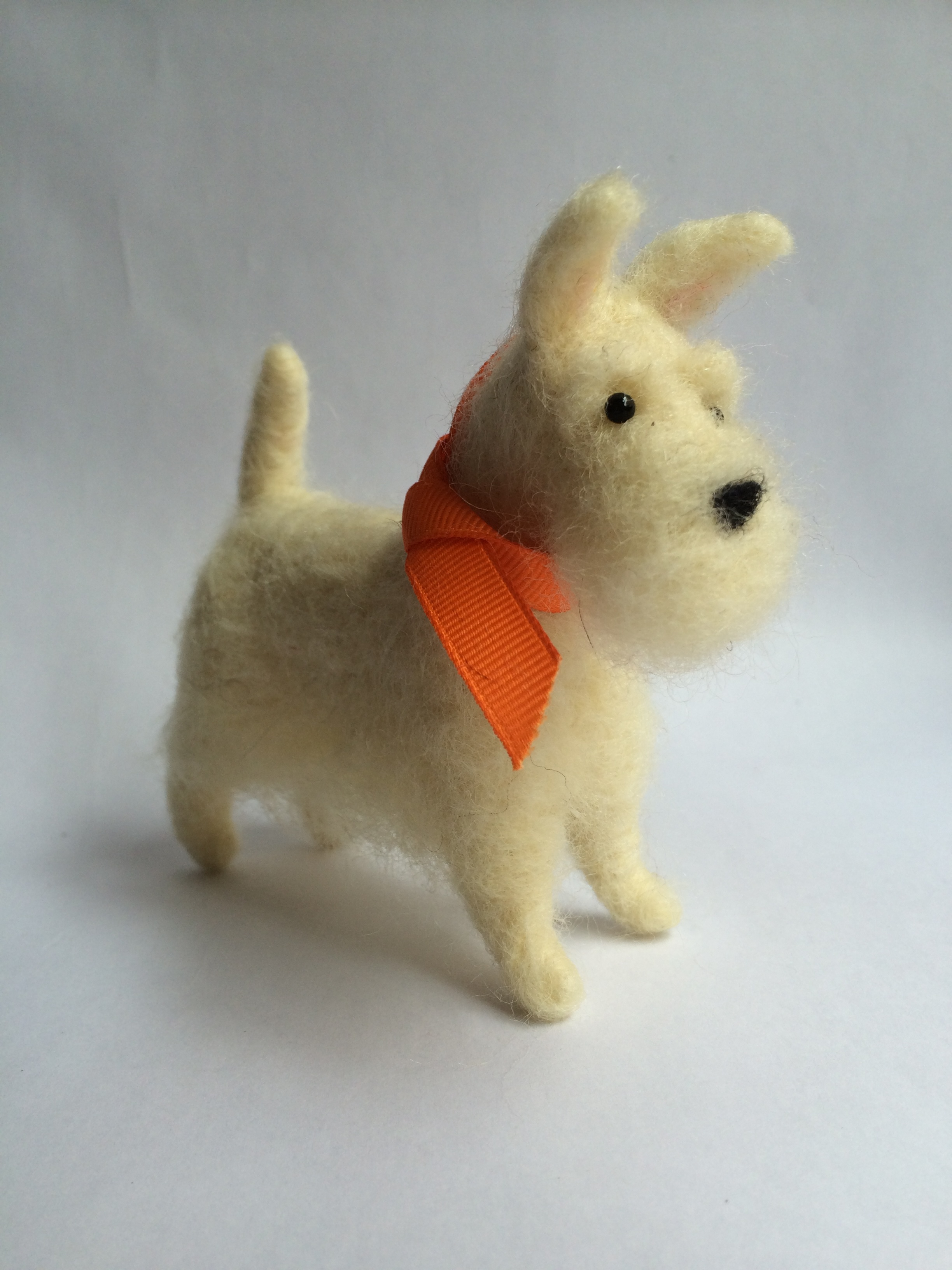 needle felted scottish terrier
