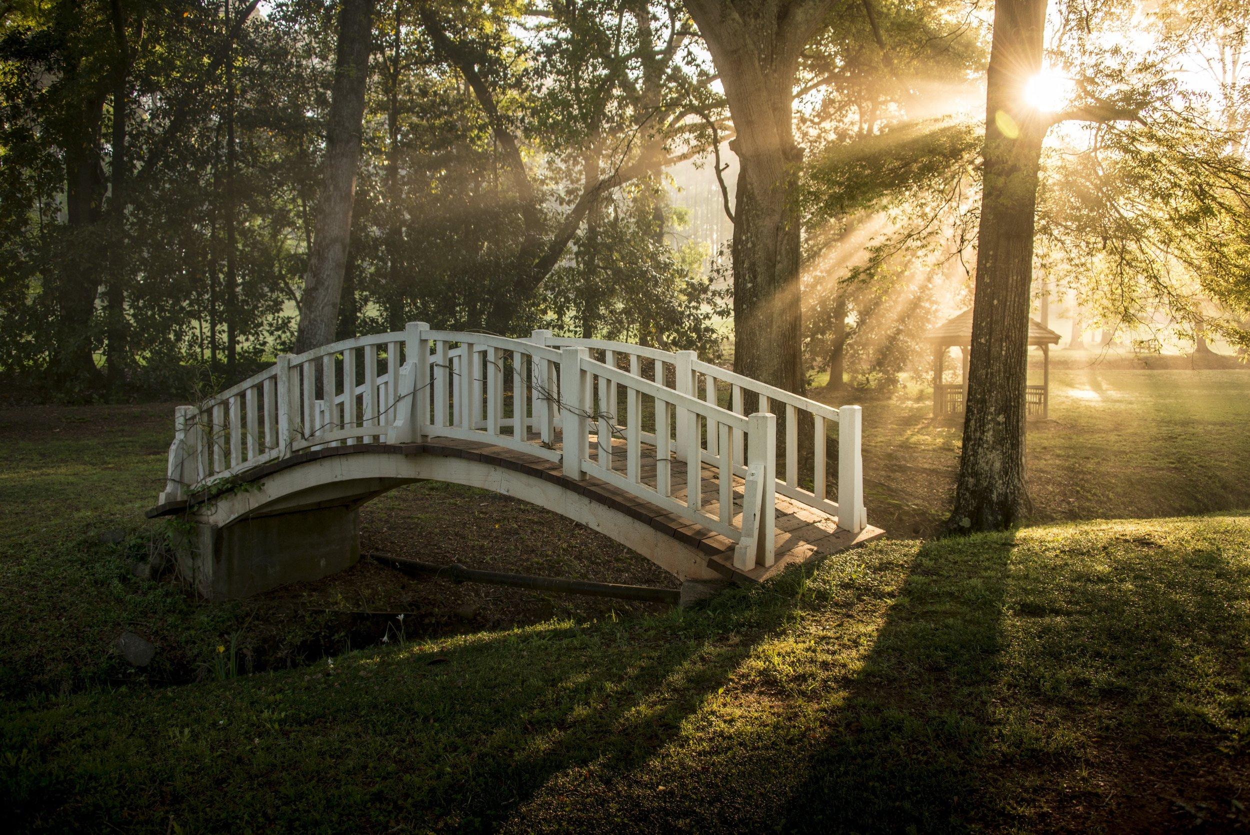 Bridge at sunrise at Hills and Dales Estate 2, LaGrange, GA .jpg