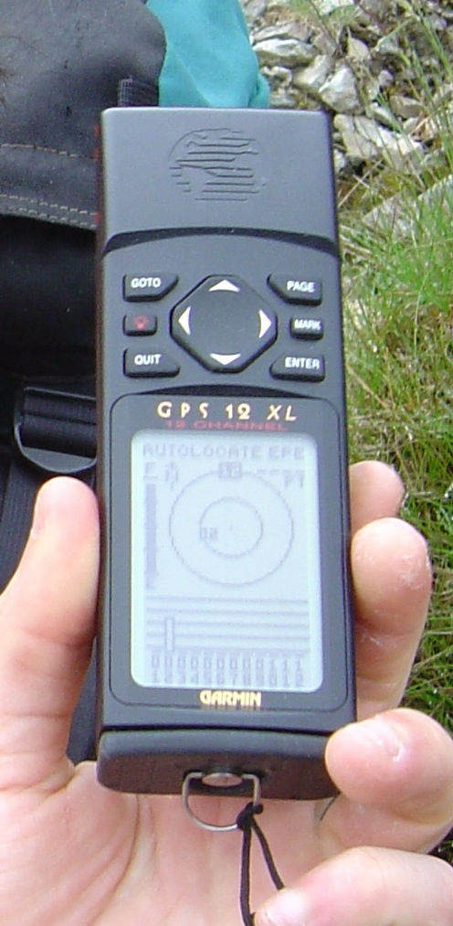 A GPS unit circa-July 2006. Only seven years ago and hard to believe it's bigger than a smartphone and all it did was do location (in comparison to what you phone is capable of now). Interestingly, also provided the same amount of battery life as you get from a modern smartphone - 24 hours.