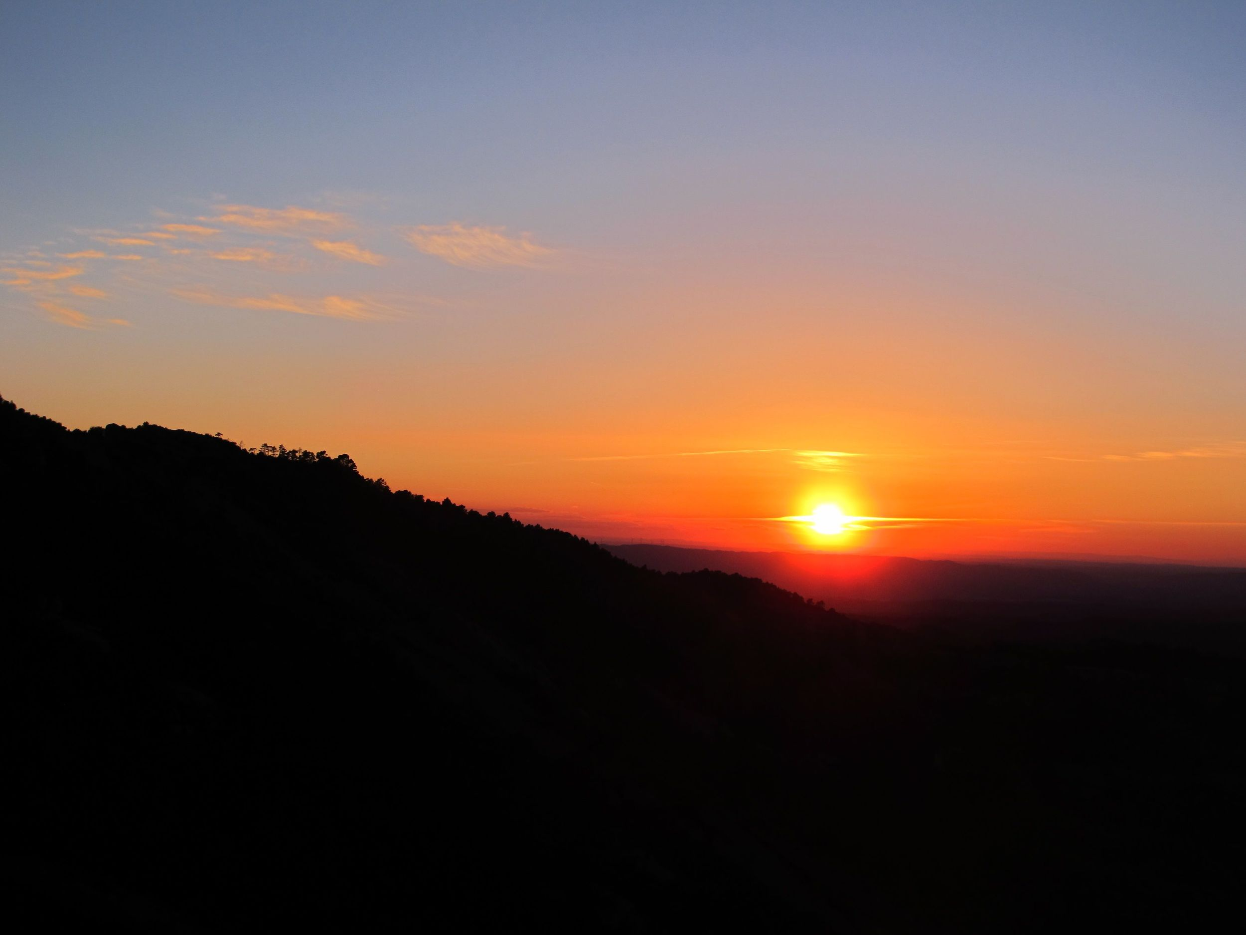 The main reason to go to the top of Margalef - beautiful sunsets..... Photo by Chris Flowers, Canon G11.