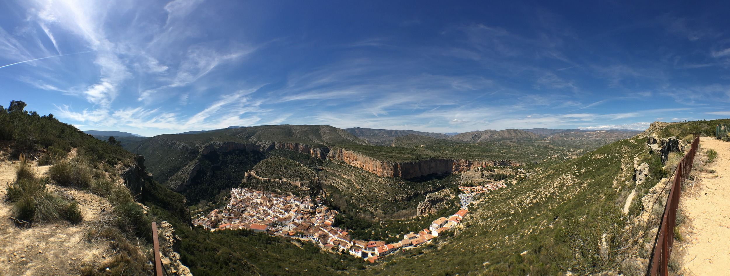 Chulilla from the top of the hill - highly recommended walk if anyone makes it out there