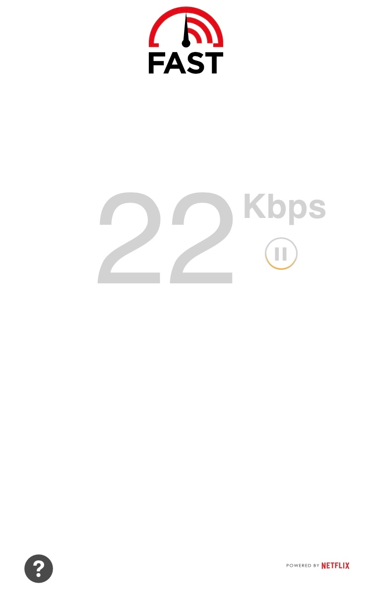 Thankfully we've come a long way from the time when this was a good connection speed to the Internet!