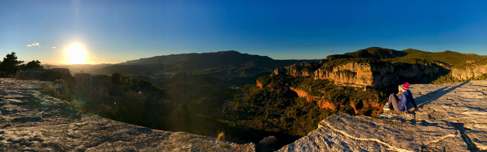 The always spectacular view from Siurana village