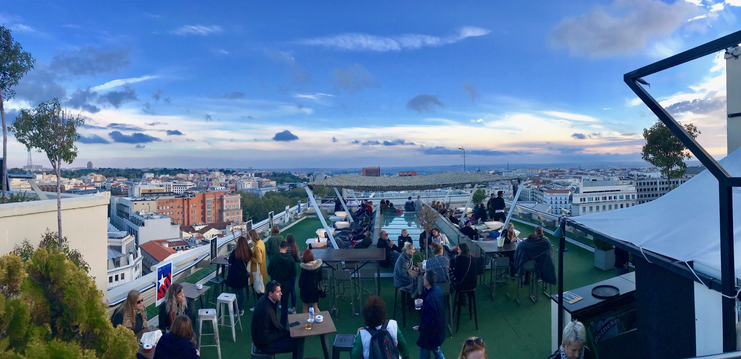 Madrid does a great rooftop bar!
