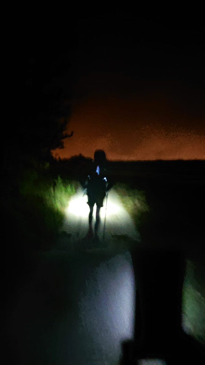 The lights of Dublin appear as top out near Two Rock and start the final descent.
