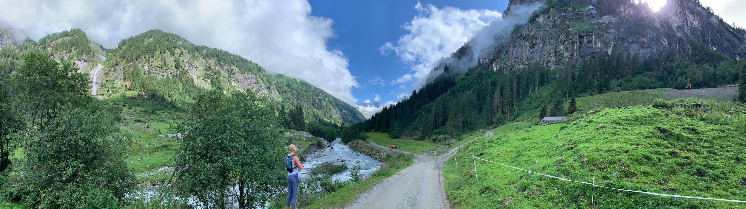 One of the many beautiful valleys and walking trails in Austria. This one, starting at the tiny village of Ginsing.