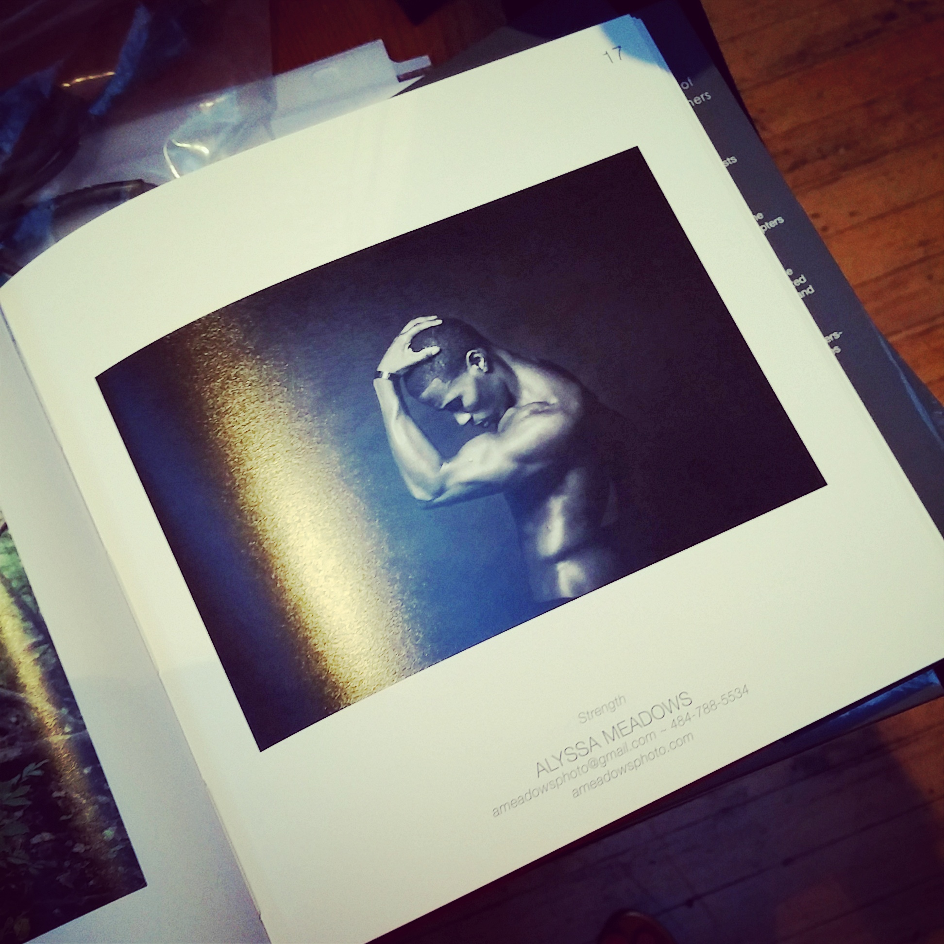 My photograph,  Strength , in this year's book!