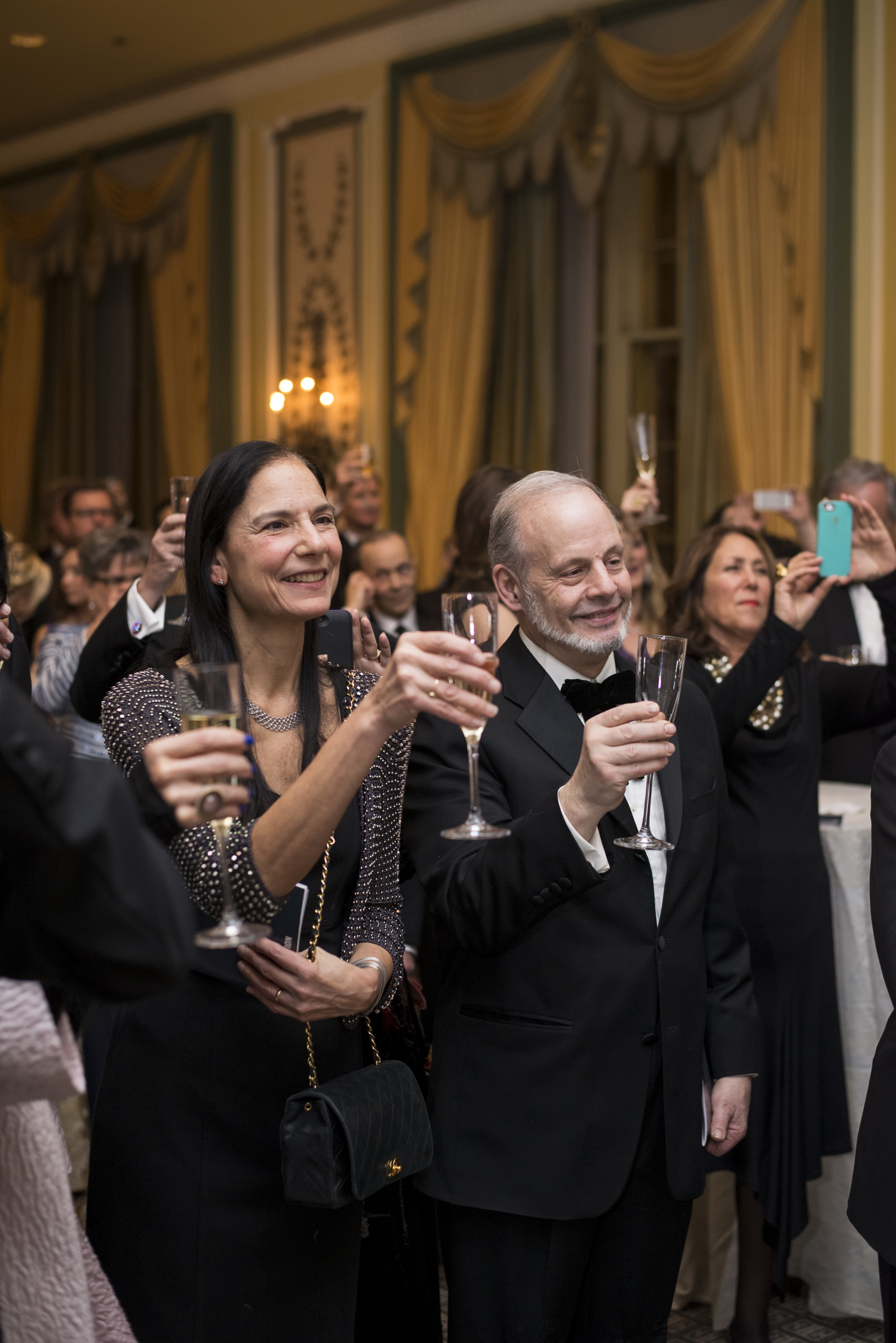 Guests at the 2015 Drama League Gala Event honoring James Earl Jones, hosted at the Pierre Hotel in NYC.