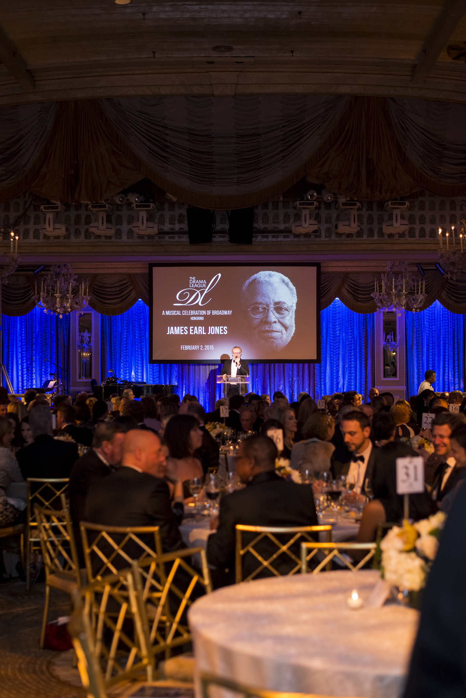 The 2015 Drama League Gala Event honoring James Earl Jones, hosted at the Pierre Hotel in NYC.