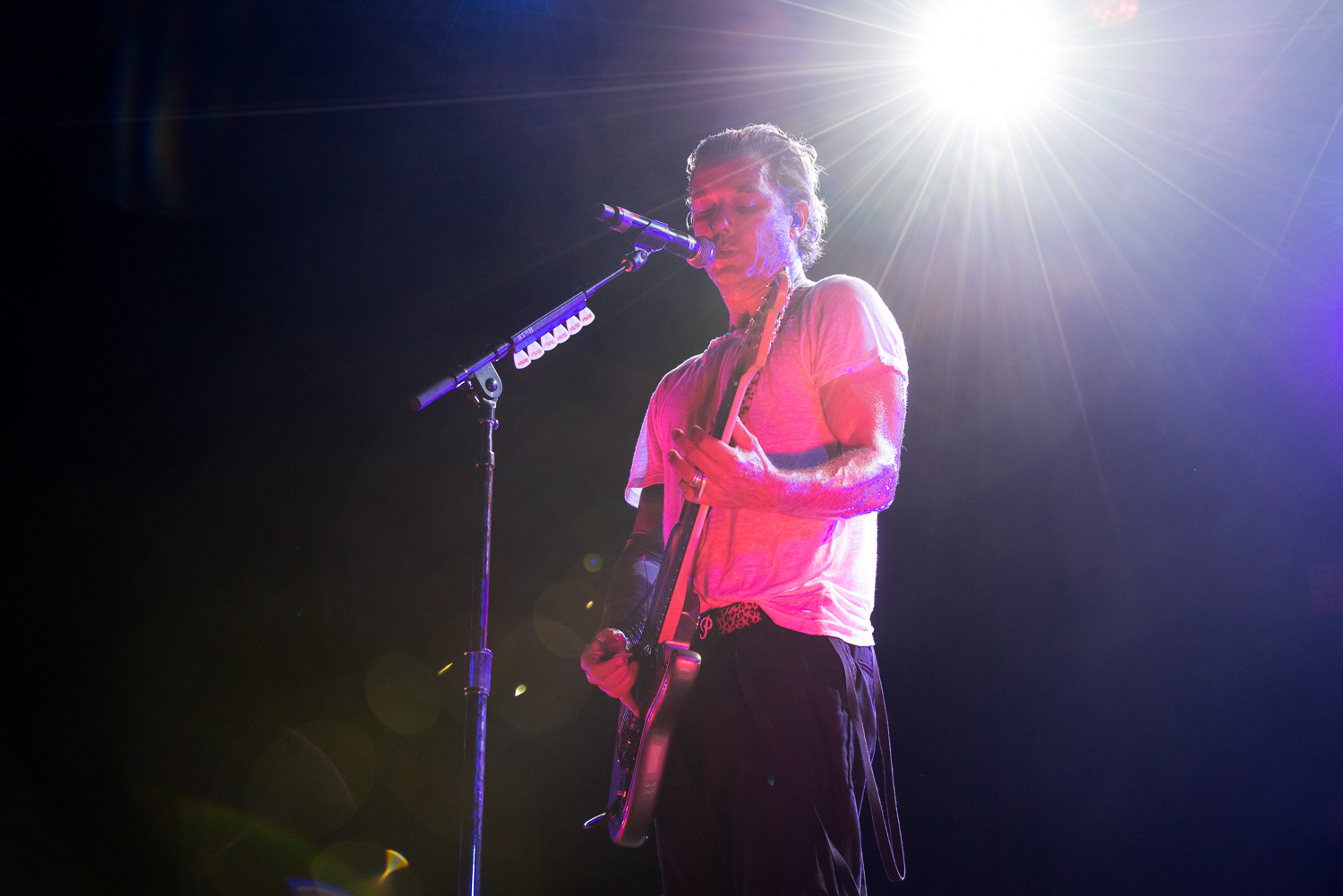 Bush frontman Gavin Rossdale performing at Summer Music Festival  Musikfest, August 2016 in Bethlehem, Pennsylvania.  Sands Steel Stage.