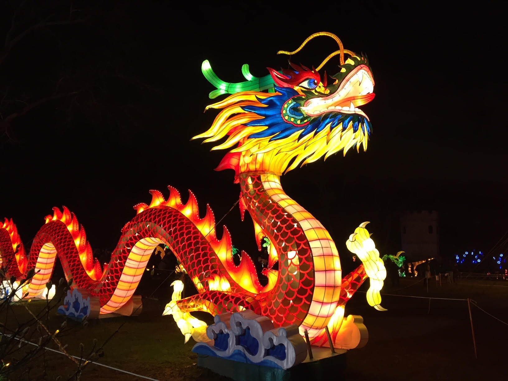 Here's a photo taken from the NYC Lantern Festival (taken January 6, 2019 in the evening, on Staten Island). The lights were bright, but true to the seasonal node it was cold and windy!