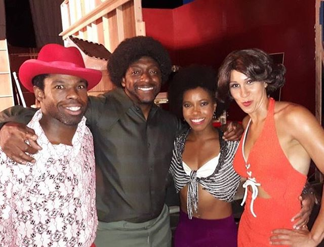 Eddie Murphy stars in Dolemite Is My Name & you can catch him & half of black Hollywood on Netflix on Oct 25.  BIG thanks to @1williamwashington & @stuntterrence for bringing me in & giving me the chance to deck @iamtherealrichie with a kick to the chest.  I had a blast working with so many talented friends. It really is a unique experience to bond, joke, & work in an environment among so many people who look like you.