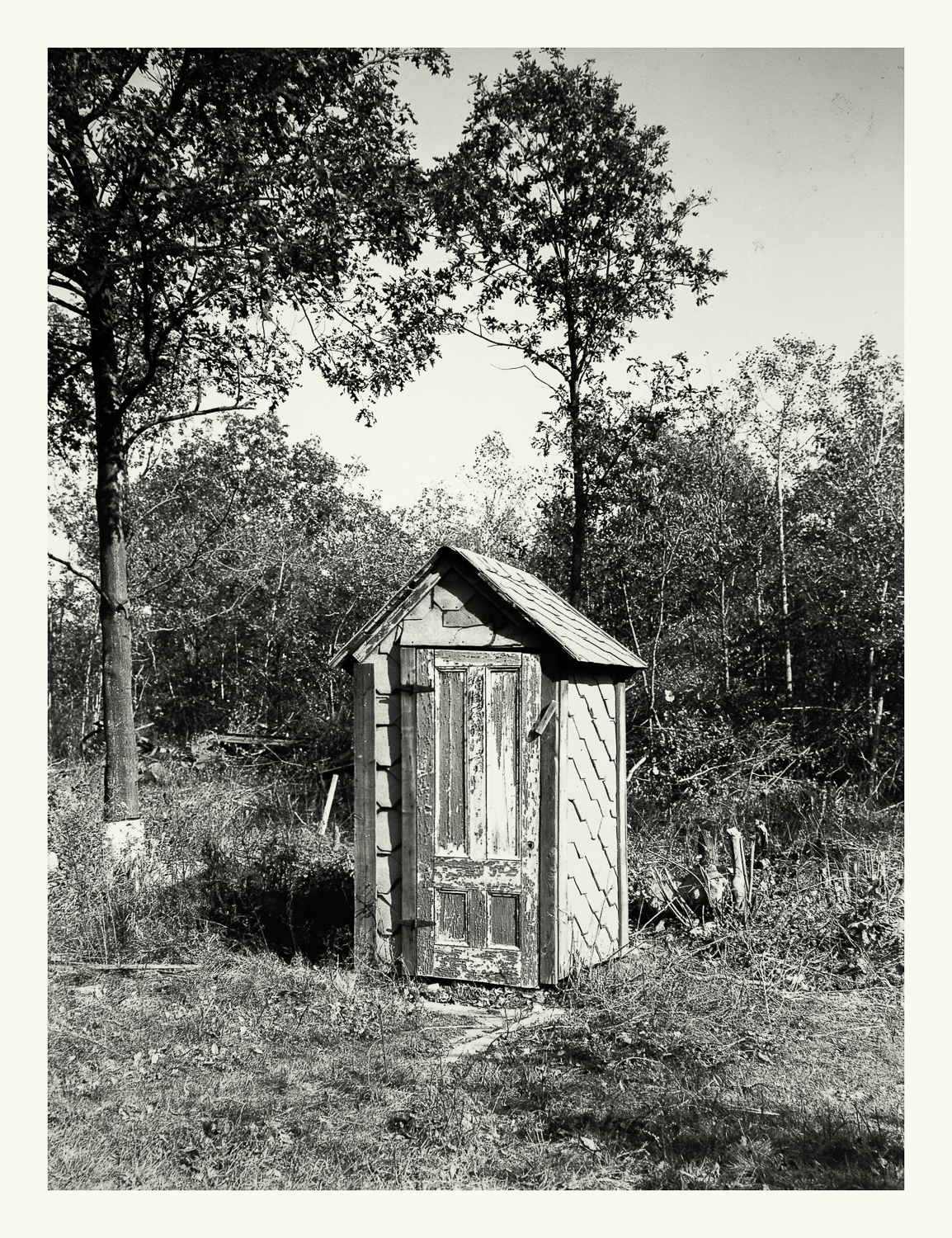 """Photograph No. PC 387. """"Photograph surveying shacks and shanties that were vacated and subsequently removed prior to the construction of the Cohasset Naval Ammunition Depot Annex."""" c. 1930; Records of Naval Districts and Shore Establishments, RG 181, NARA Boston."""