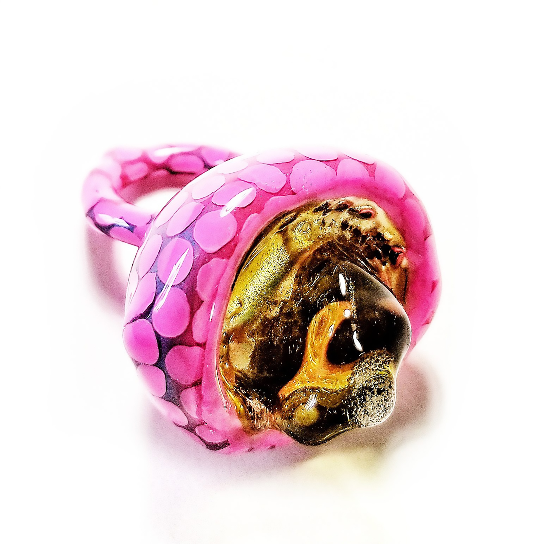 Pink Dotted Whopper Ring with Yellow Gemmer.jpg
