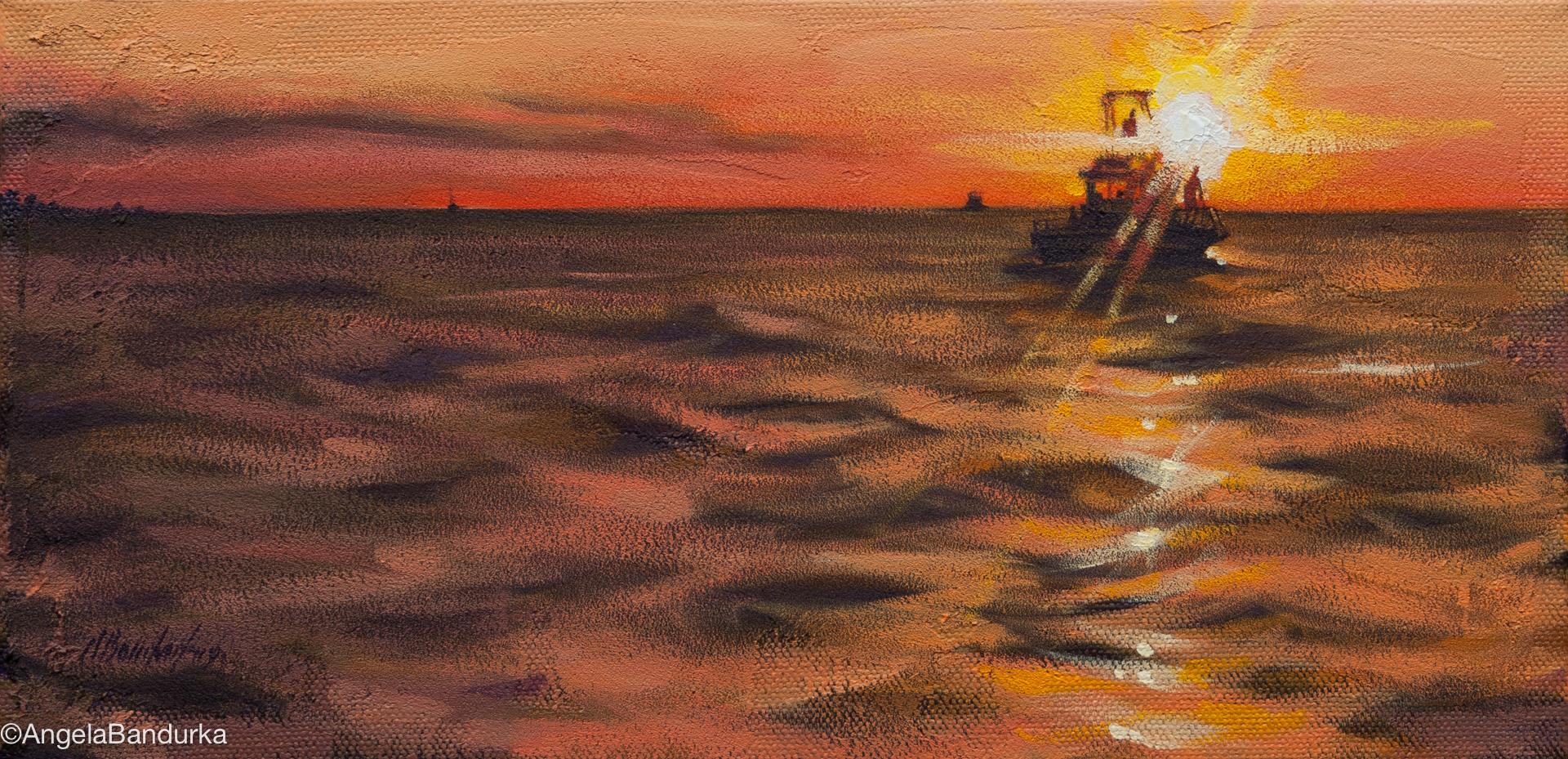 Evening Rays, acrylic on canvas