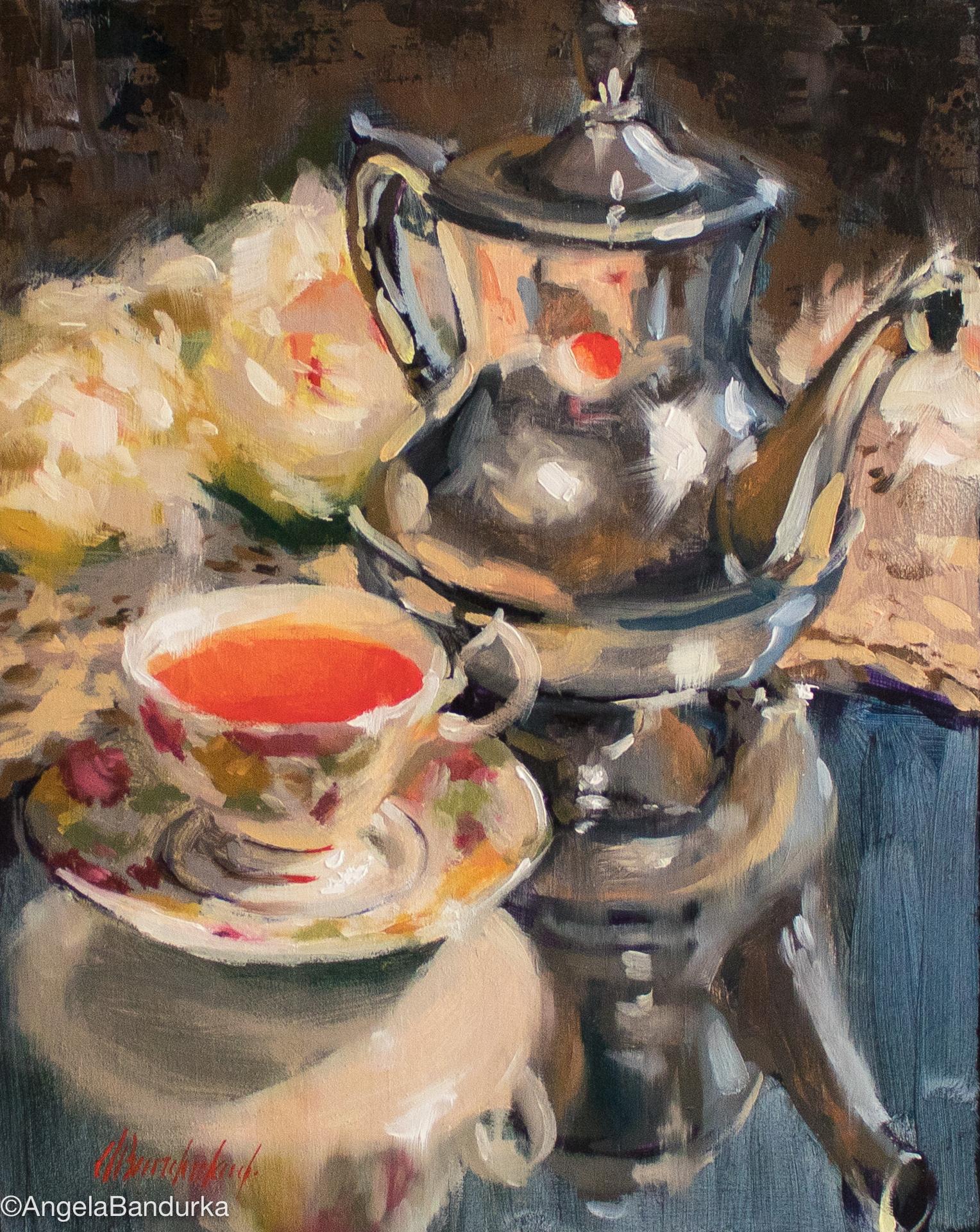 Heirloom Tea, 10x8, Oil