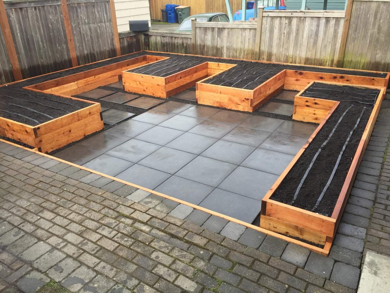 rough cut cedar beds with patio.JPG
