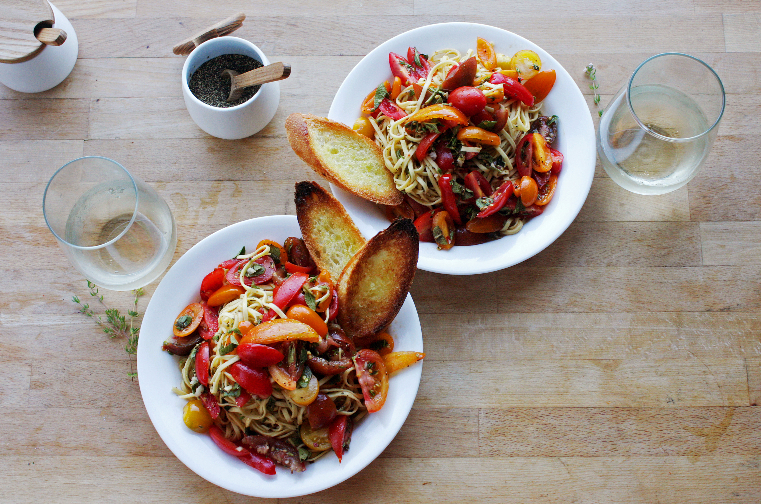 Fresh Linguine, Tomatoes and Herbs_ Northwest Workshop_ Seattle Urban Farm Co