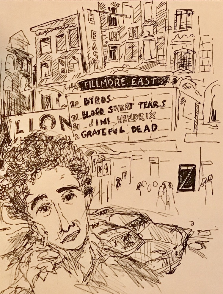 Drawing of Hannah Arendt by Ken Krimstein.