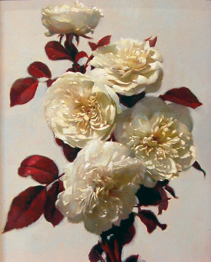 White Roses (Red Project No. 1) by Graydon Parrish