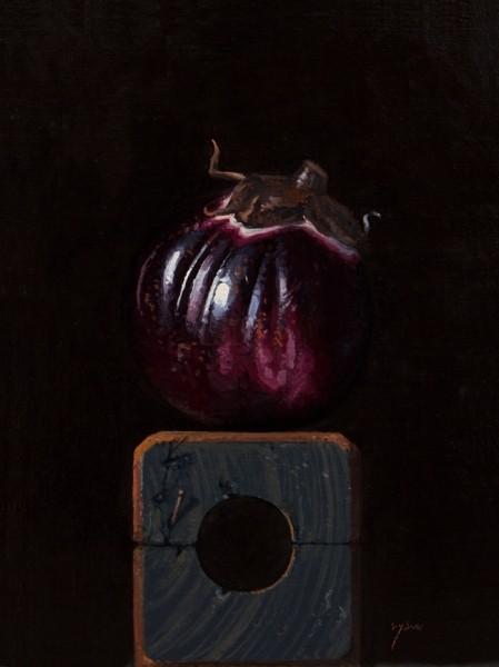 Sicilian Eggplant on a Wood Block, by Abbey Ryan