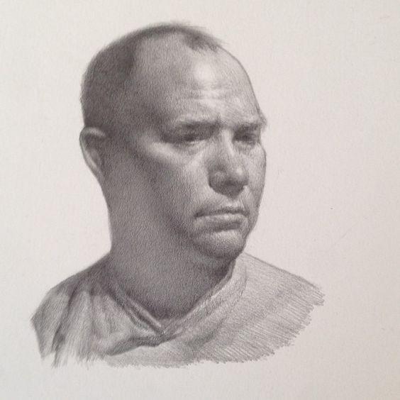 """""""Head Study of Greg"""" by Kevin Wueste"""