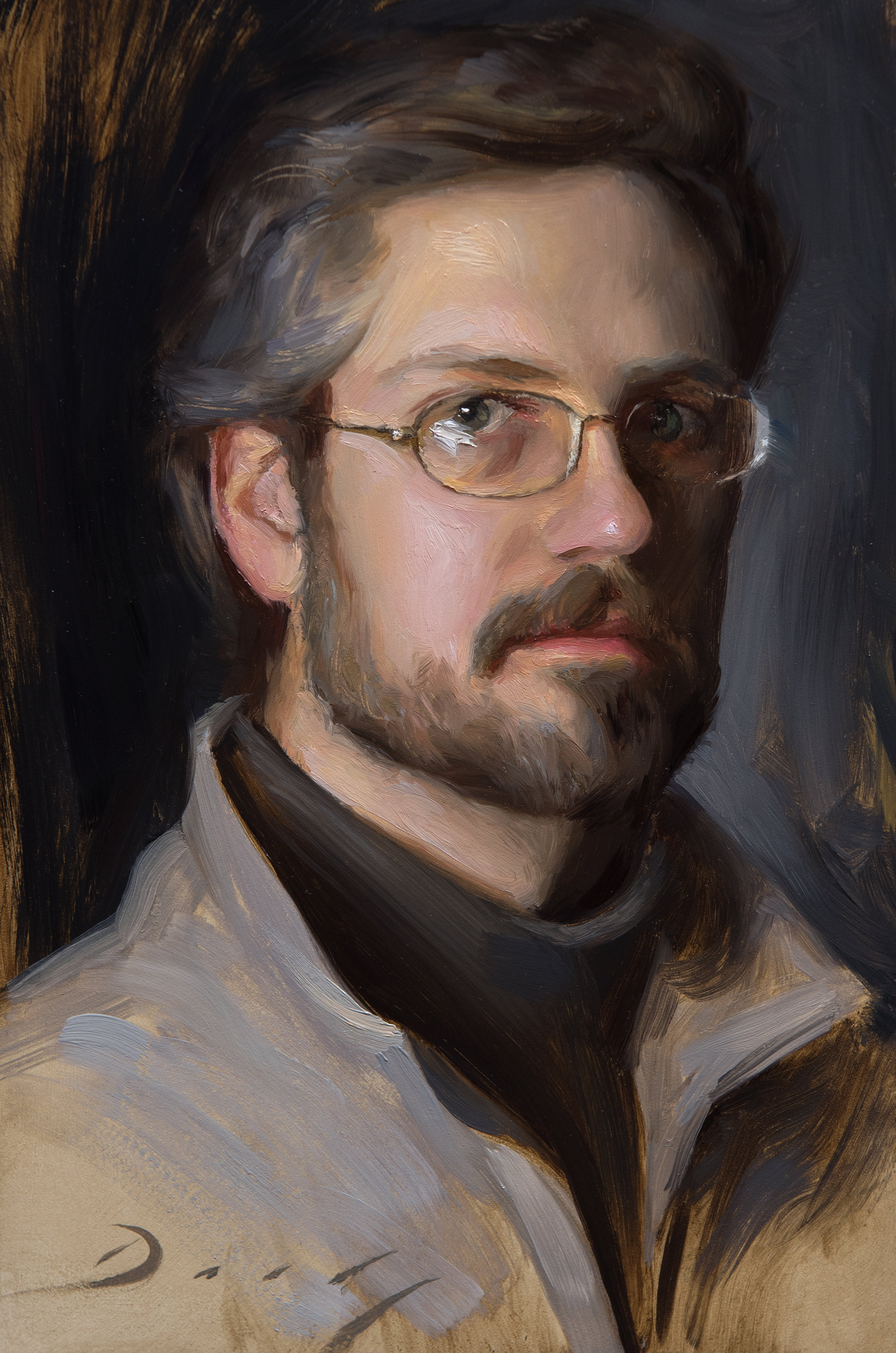Self Portrait at 34, 6x9, by Joseph Daily