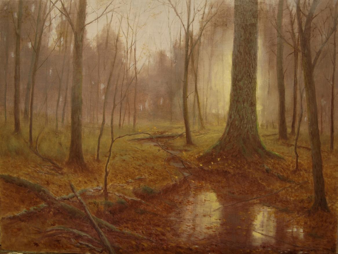 Autumn Sunrise, Lennox Woods, 18x24, by Deborah Paris