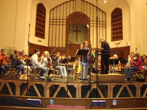 Recording session of my Viola Concerto with Ellen Rose and Jaap van Zweden